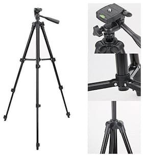 TSV 3120 Foldable Camera Tripod with Mobile Clip Holder Bracket For Samsung A8,A9,J8,S9,S8