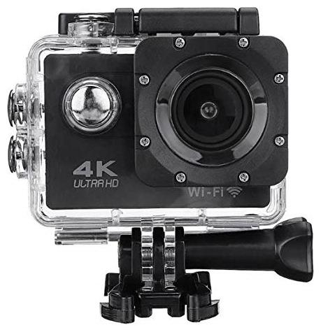 TSV 4K Ultra HD Water Resistant Sports Action Camera with Remote Control and 2 inch Display  16 MP, Black