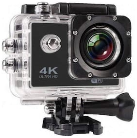 TSV 4K Ultra HD Water Resistant Sports Action Camera with Remote Control and 2 Inch Display (16MP, Black)
