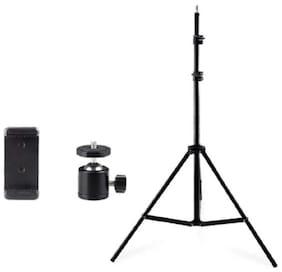 TSV 7 Feet Big Tripod Stand for Mobile and Camera Adjustable Aluminium Alloy Big Tripod Stand