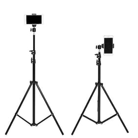 TSV 7 Feet Big Tripod Stand for Mobile and Camera Adjustable Aluminium Alloy Big Tripod Stand Holder,Photo/Video Shoot,Instagram Reels/YouTube Videos