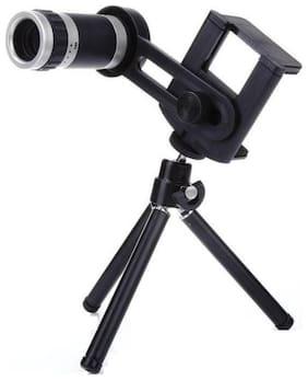 TSV 8X Tripod  Lens Hd Magnifier Lens Comaptible For Tiktok Lovers (Black)