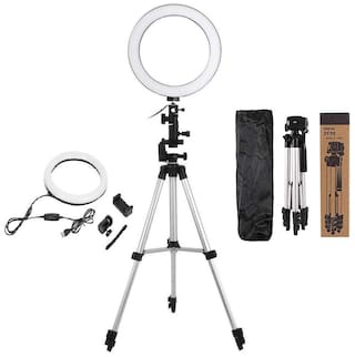 TSV Big Selfie Ring Light with 3110 Tripod & Phone Holder for YouTube, TIK Tok Video & Streaming with 3 Light Modes