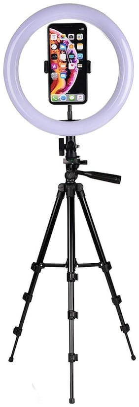 TSV Big Selfie Ring Light With 3120 Tripod Compatiblw With Android & IOS Devices