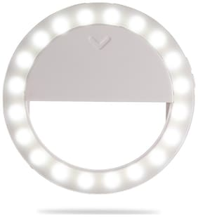 TSV  Double Bright Soft White Color Selfie Ring Light with 3 Modes and 36 LED for Smartphones