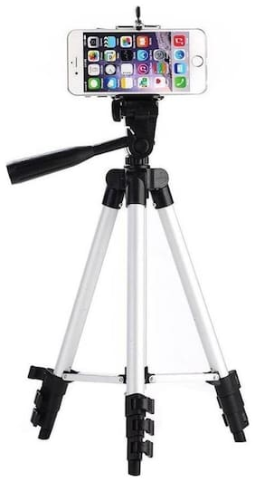 TSV Fully Flexible Mount Cum 3110 Tripod with 3-Section Lever-Lock Legs for Most Video Cameras