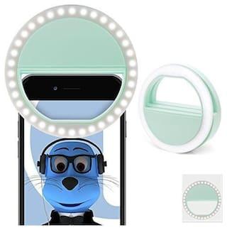 TSV  LED Selfie Ring Light Clip-on Camera Adjustable 3 Level Light Settings for Smartphones, for Night Time or Dark Rooms