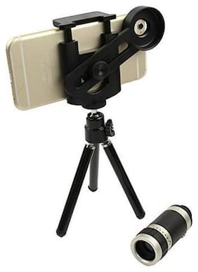 TSV  Mini Tripod With Flexible Legs Universal Mobile Camera Lens With Tripod & Holder | 8X Optical Zoom, Compatible With Samsung Galaxy Note 8