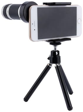 TSV  Mini Tripod With Flexible Legs Universal Mobile Camera Lens With Tripod & Holder | 8X Optical Zoom, Compatible With Vivo V7