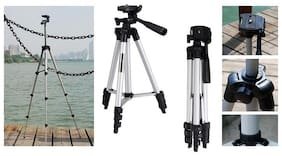 TSV Note 5 Lite Compatible Tripod 3110 Portable Travel Lightweight Tripod for Mobile Phone with Nylon Carry Case Smartphone Mount