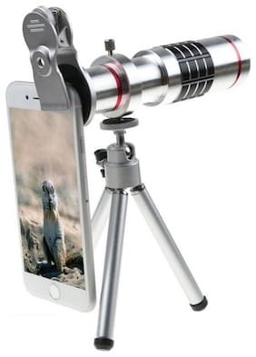 TSV  Optical Zooming Lens Telescope Mobile Camera Lens Kit with Tripod & Adjustable Holder (DSLR Blur Background Effect)