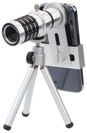 TSV  Optical Zooming Lens Telescope Lens with Tripod & Adjustable Holder for Mobile Camera - All Smartphones (Android & iOS Devices)