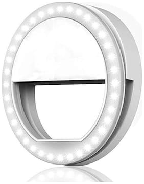 TSV  Portable LED Selfie Ring Light for Smartphones, Tablets and iPhone (White)