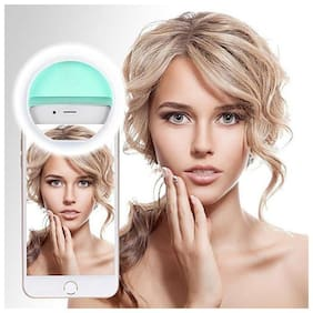 TSV  Portable LED Selfie Ring Light for Smartphones, Tablets and iPhone (Mint Green)