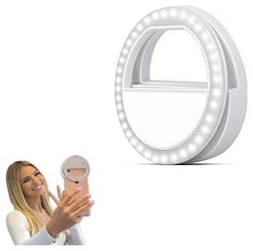 TSV  Rechargeable Selfie Ring Light Night LED Selfie Flash Light for Smartphones