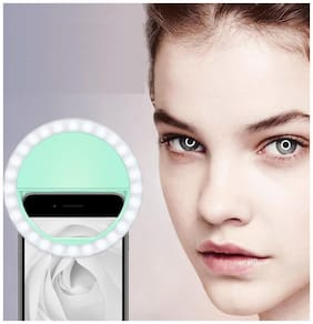 TSV  Rechargeable Selfie Ring Light 36 LED Flash for Mobile, TIK-tok, iPhone,iPad,Smart Phones, Laptop, Camera Photography, Video
