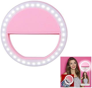 TSV  Selfie Ring Rechargeable Flash Light With 36 LED's For Mobile Night Darkness Selfies For Android And iPhone Devices