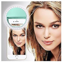 TSV  Soft Mint Green Color Selfie Ring Light with 3 Modes and 36 LED for MobilePhone/Laptop/Camera Photography/Video Photo Shoot Flash