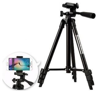 TSV Tripod-3120 Portable Adjustable Aluminum Lightweight Camera Stand For Samsung Galaxy s9