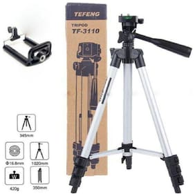 TSV  Tripod-3110 Portable Adjustable Aluminum Lightweight Camera Stand For apple iPhone 6,6S,7,8,x (BLACK)