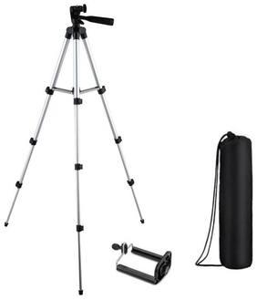 TSV Tripod 3110 Portable Adjustable Aluminium Lightweight Compatible Redmi Note 5 Pro Camera Stand with 3-Dimensional Head
