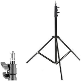 TSV tripod kit with 7 feet light stand, mobile holder, mini ball head for indoor, outdoor and travel photo video shoots