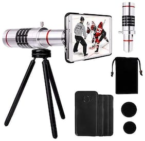 TSV  Universal 18XZoom Telescope and Mini Stable Stand Mobile Camera Lens with Tripod & Phone Holder for Redmi 6