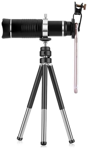 TSV  Universal 20XZoom Telescope and Mini Stable Stand Mobile Camera Lens with Tripod & Phone Holder for Redmi 6