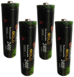 Tuscan 18650 Li-ion 3.7 V 2400 mAh Rechargeable Battery (Pack of 4)