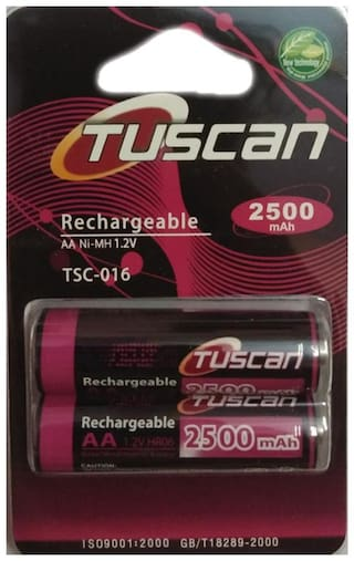 Tuscan Ni-MH 1.2V 2500 mAh Rechargeable Battery (Pack of 1)