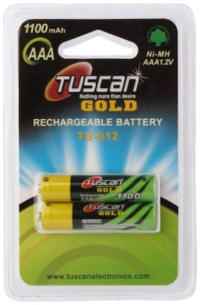 Tuscan Ni-MH 1.2V AAA 1100 mAh Rechargeable Battery (Pack of 2)