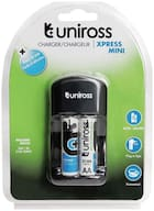 Uniross Xpress Mini Charger With NiMh 2100 mAh AA 2 Rechargeable Battery by Sseonlineshop