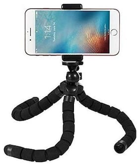 UnTech Octopus Style Tripod with Universal Mobile Monopod Mount Adapter & Long Screw Mobile Holder