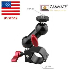 """US CAMVATE 1/4""""-20 Monitor Mount 25mm Rod Clamp Rig for DJI Ronin-M Gimbal MOVI"""