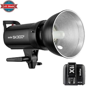 US Godox SK300II 300W 2.4G Flash Strobe Light + X1T-O Trigger for Olympus