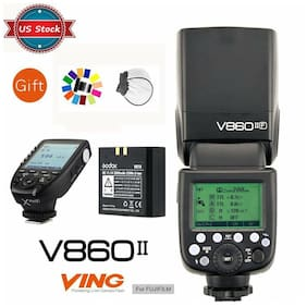 US Godox V860II-F 2.4G TTL Flashgun Speedlite + XPRO-F Transmitter for Fujifilm