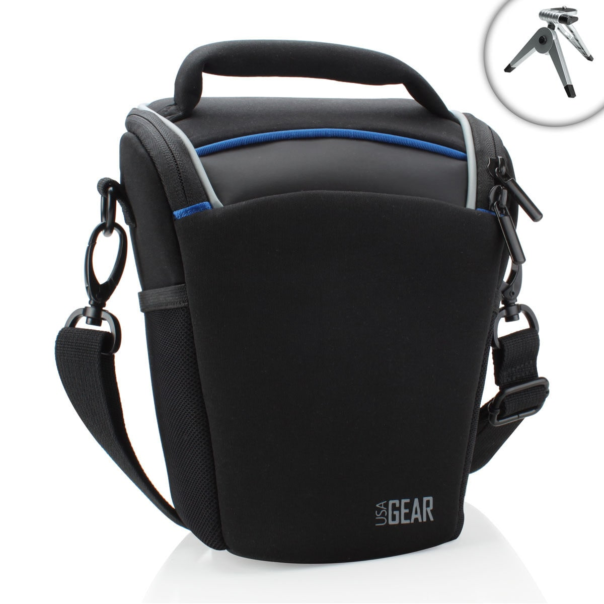 USA Gear Portable Top Loading dSLR Camera Bag for Nikon Digital Cameras