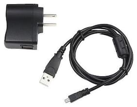 USB AC Power Adapter Battery Charger Cord For Pentax Optio M-85 WG-3 GPS Camera