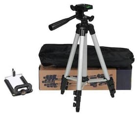 VAIRO Tripod Stand With 3-Way Head Tripod for Digital Camera DV Camcorder, Tripod 3110 with Mobile Phone Holder Mount Tripod