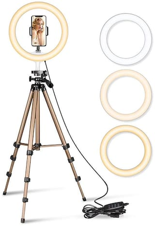 VB Trade LED Ring Light with Tripod Stand Circle Design Dimmable Selfie Ring Fill Light