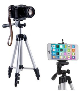 VRAI 3110 Portable & Foldable Camera & Mobile Tripod with Mobile Clip Holder Bracket Fully Flexible Mount Cum Tripod Stand VTS005