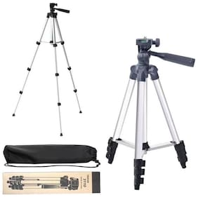 VRAI 3110 Portable & Foldable Camera & Mobile Tripod with Mobile Clip Holder Bracket Fully Flexible Mount Cum Tripod Stand VTS009