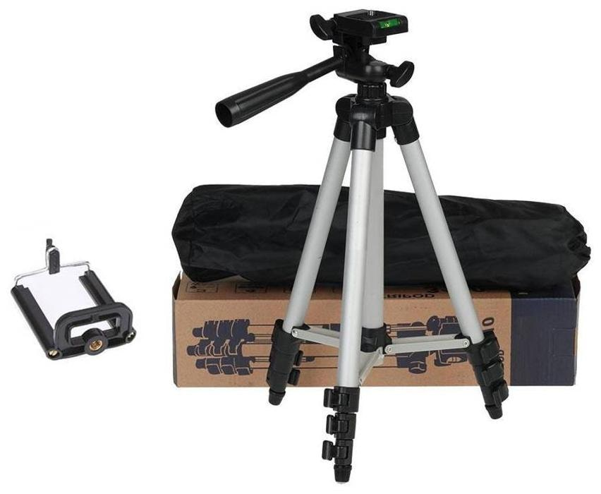 52df0d9fc Buy VRAI 3110 Portable   Foldable Camera   Mobile Tripod with Mobile Clip  Holder Bracket Fully Flexible Mount Cum Tripod Stand VTS018 Online at Low  Prices ...