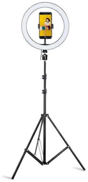 Webilla 10 inch Dimmable led selfie ring light with tripod stand makeup video live photo ring light