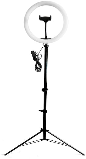 """Webilla 26"""" 10 Inch LED Dimmable Video Ring Light Tripod Stand with Phone Holder Selfie Shutter for Youtube Makeup Live Streaming"""