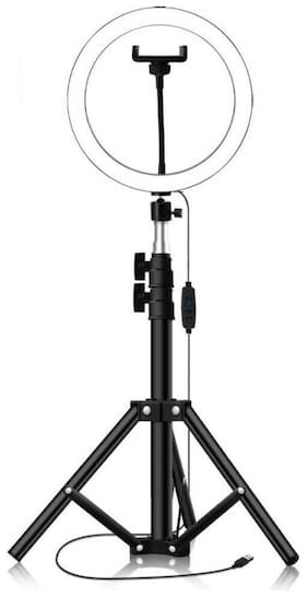 """Webilla LED 10.2"""" Selfie Ring Light with Tripod Stand & Remote Control & 10 Brightness Level & 3 Light Modes and 120 Bulbs 6500k for YouTube Video/Live Stream/Makeup/Photography for iPhone Android"""