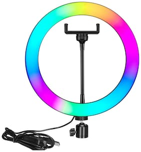 Webilla RGB 10 Inch Ring Light Colorful Professional Photography Dimmable Studio Lighting for Live Streaming, Advertising Photography, Video shooting