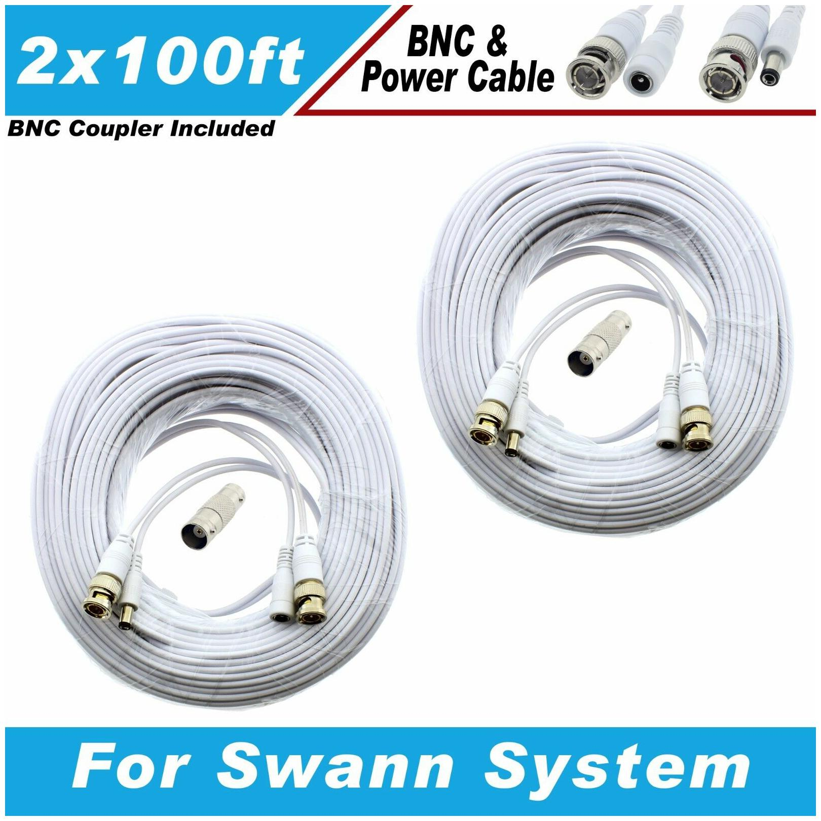 New High Quality White 400FT Thick BNC EXTENSION CABLES For EZVIZ Systems
