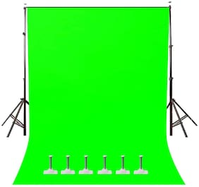 Windrop Solutions Screen Background Photo Video Studio Back drop 8 x 12 for Indoor-Outdoor Online Classes YouTube Videos Made in India (Green )