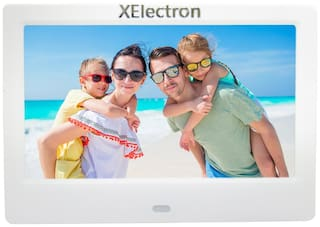 XElectron 7-inch ips display fully functional bis certified Digital Photo Frame - White